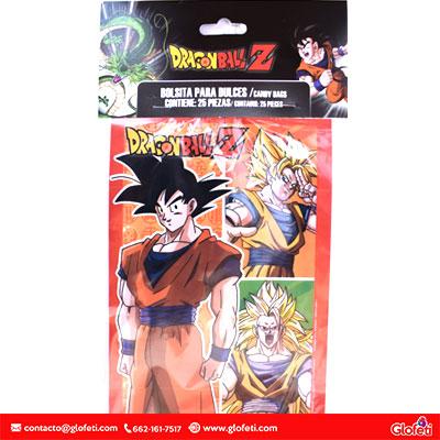 Bolsita De Dulces Dragon Ball Z 25pz 738011 Globos Artículos Para Fiestas Decoración Pelotas Y Balones